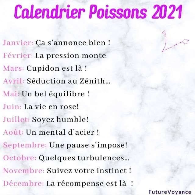 calendrier poissons 2021